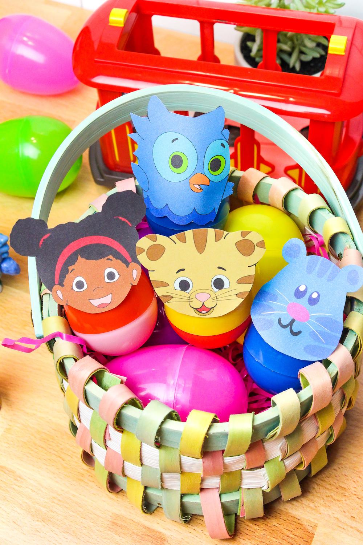 Daniel Tiger Easter Eggs In Basket Overhead Photo