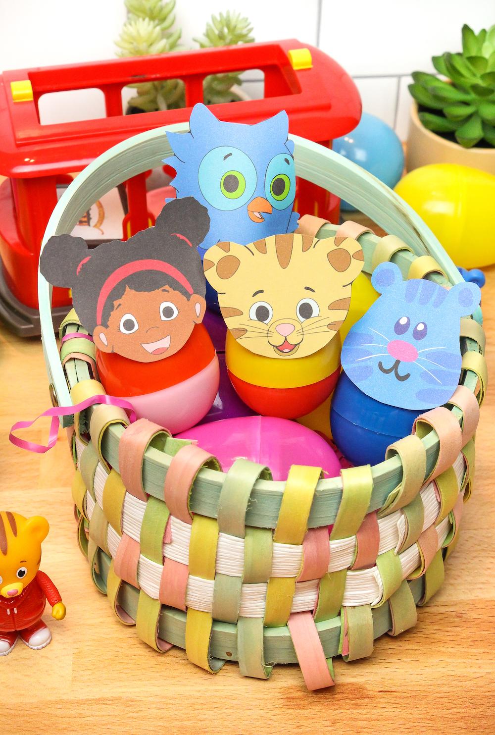 Daniel Tiger Easter Eggs In Basket