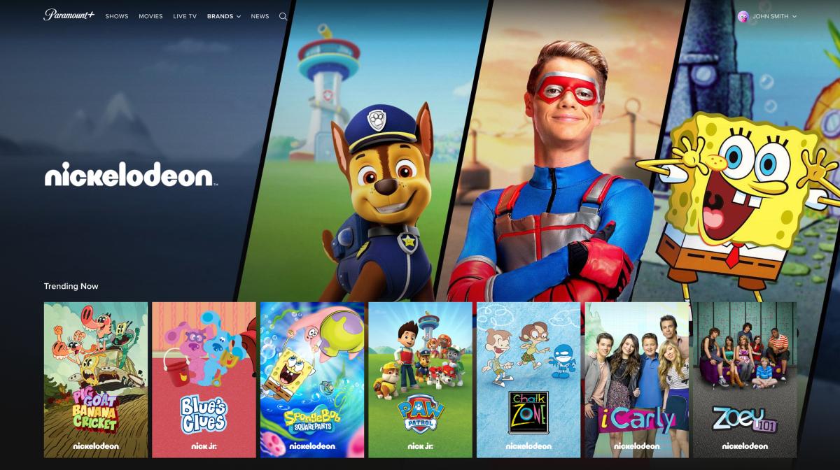 Paramount Plus App Screen
