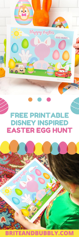 Printable Disney Inspired Easter Egg Hunt Pinterest Image