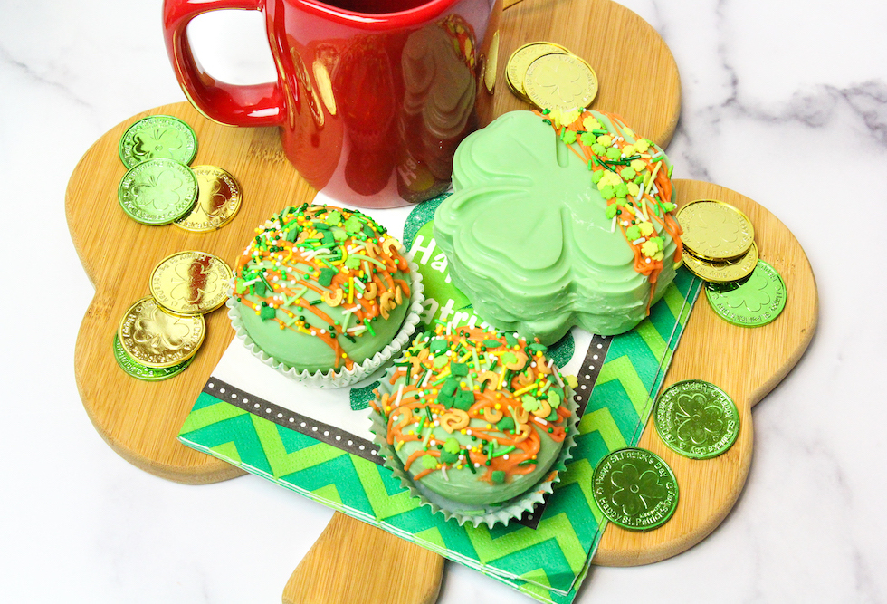 Saint Patrick's Hot Cocoa Bombs Platter
