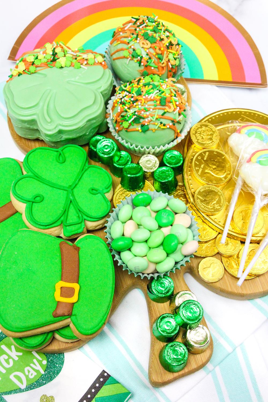 Saint Patrick's Day Treat Board Close Up