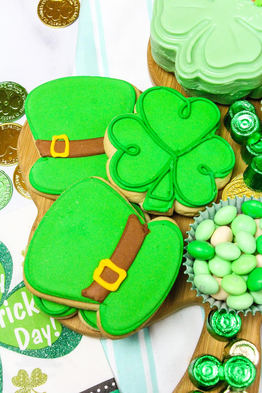 Saint Patrick's Day Treat Board Cookies