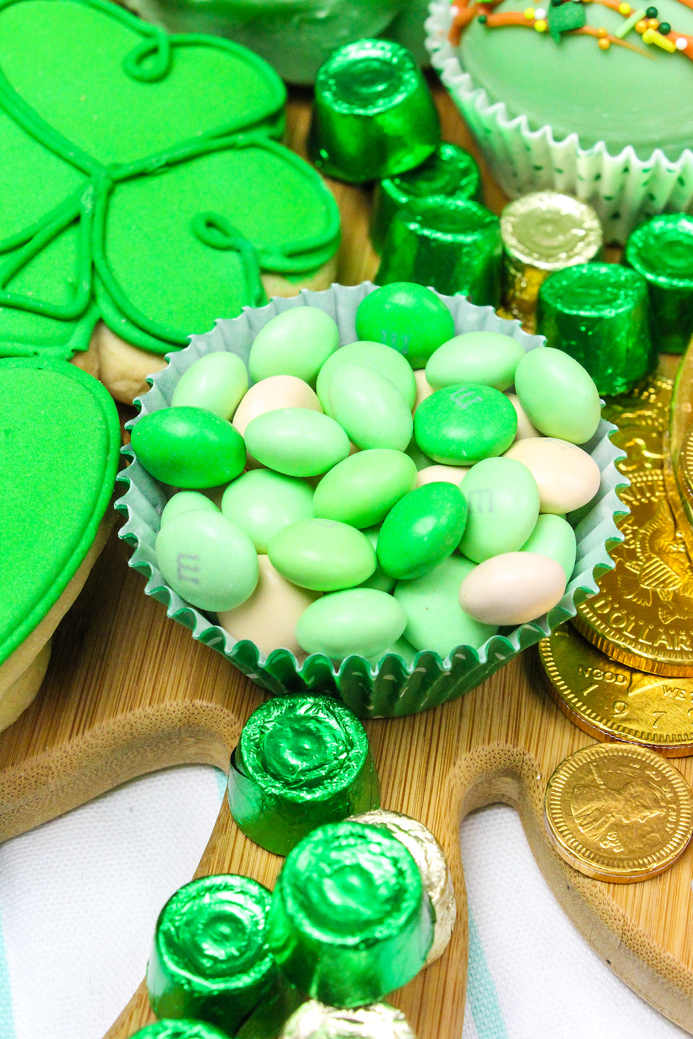 Green M&M's candy