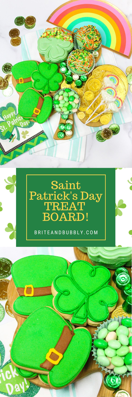 Saint Patrick's Day Treat Board Long Pin Image