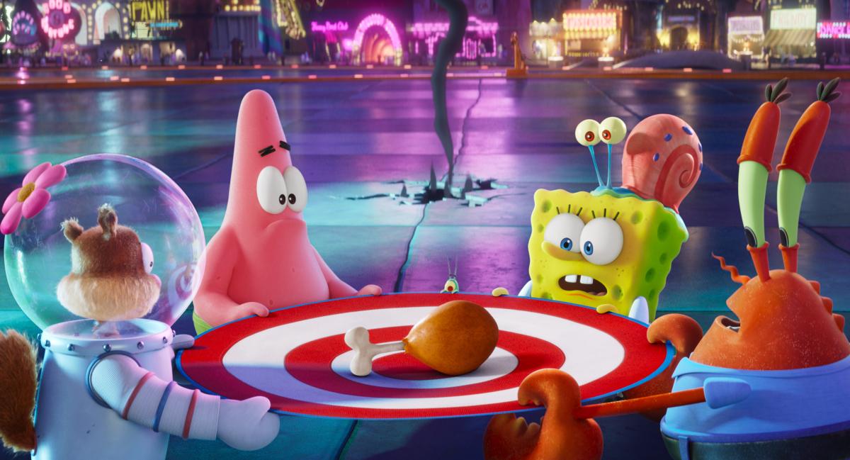 Spongebob Movie Sponge on The Run Characters Sitting