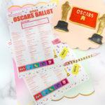 2021 Free Printable Oscars Ballot!