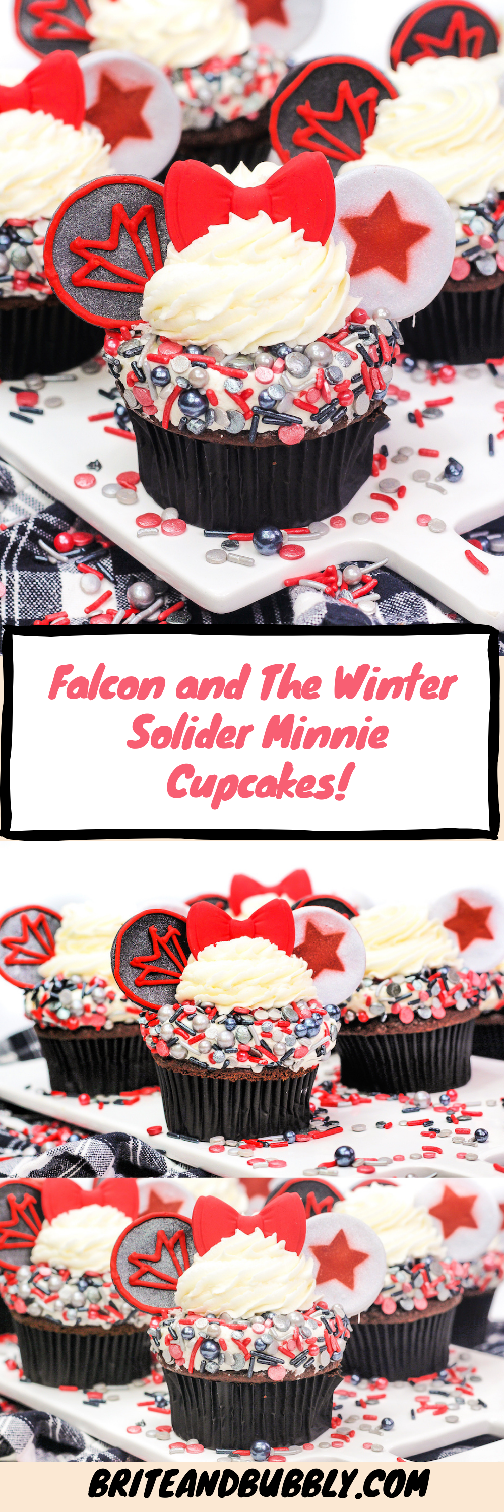 Falcon and Winter Solider Cupcake pinterest image