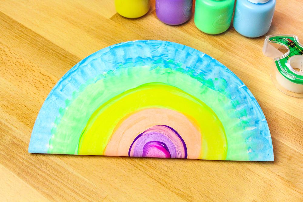 Washable Paint Maracas Folded Plate Step