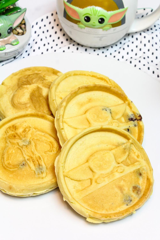 Baby Yoda Blueberry Waffles