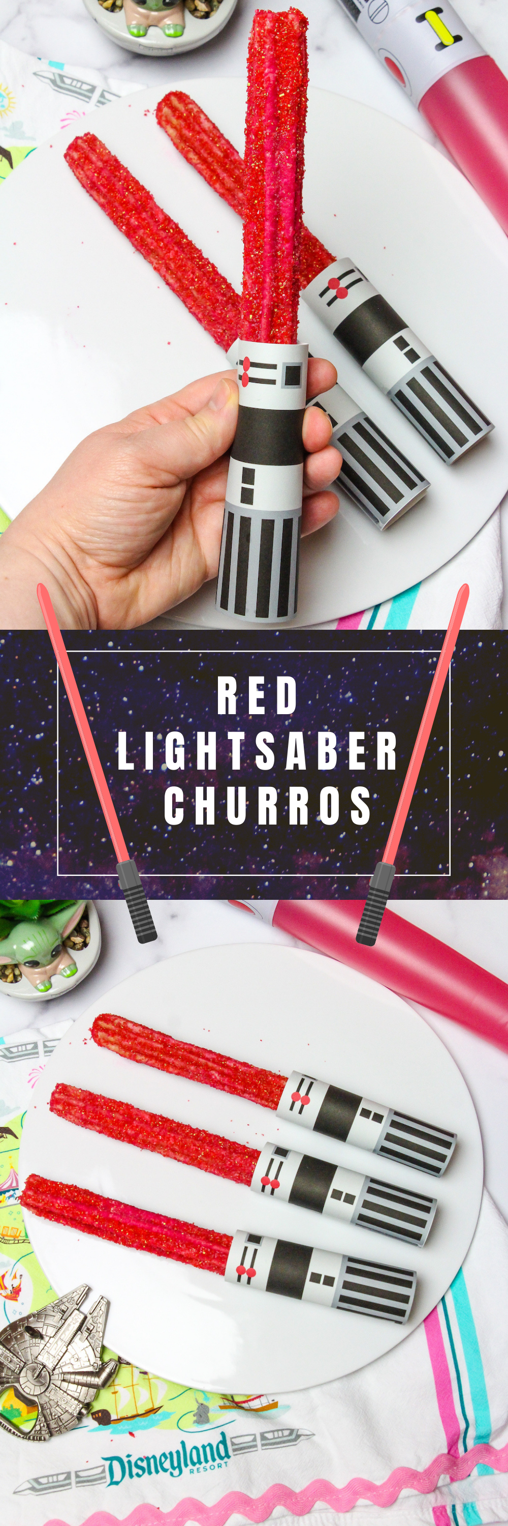 Red Lightsaber Churro Pin