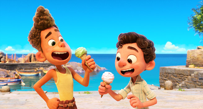 Disney Pixar Luca Eating Ice Cream
