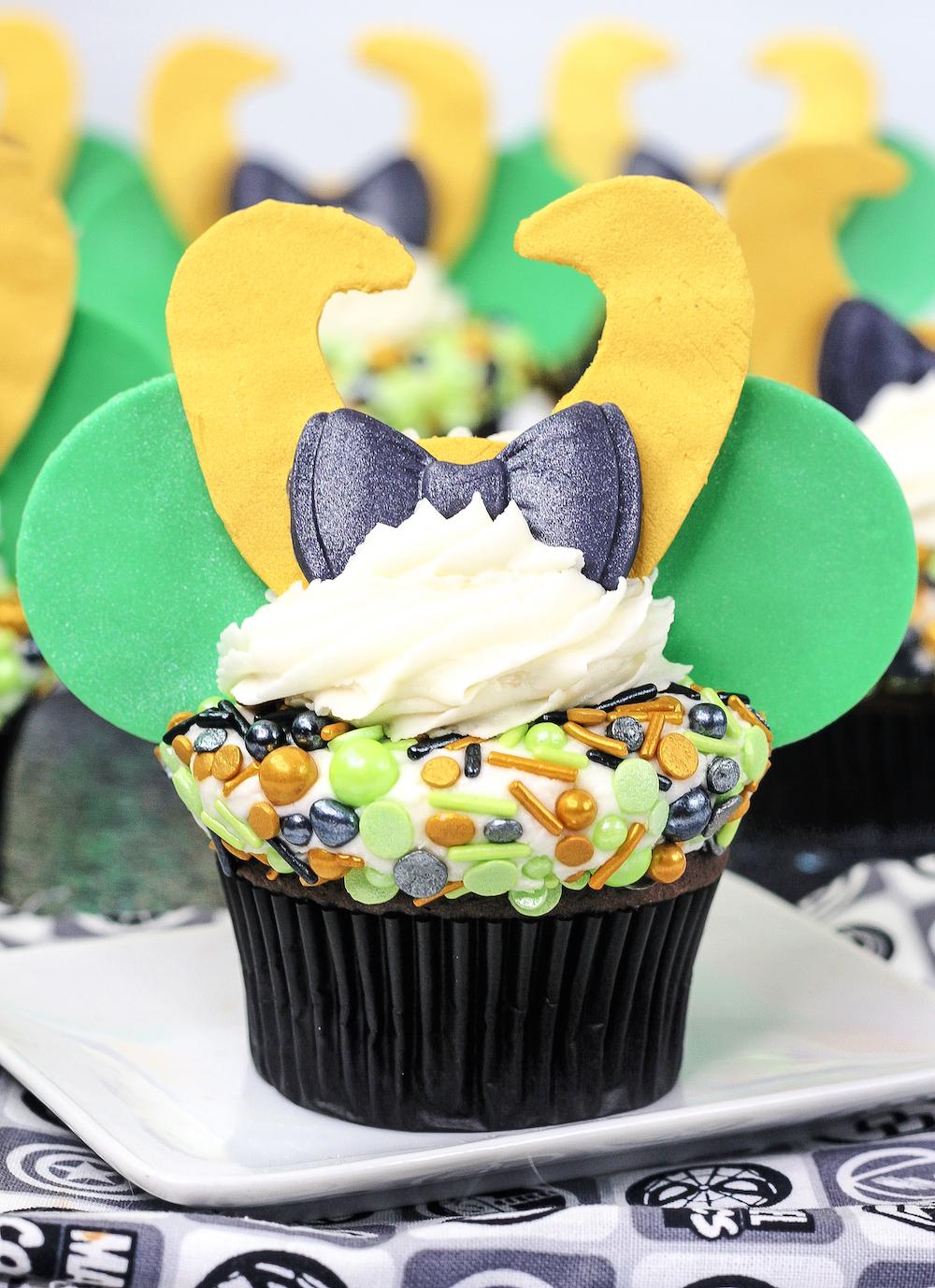 Final Loki Cupcake close up