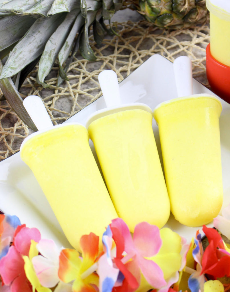 Dole Whip Popsicles on tray