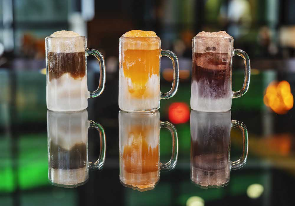 Floats at NBC Sports Grill & Brew at Universal CityWalk in Hollywood