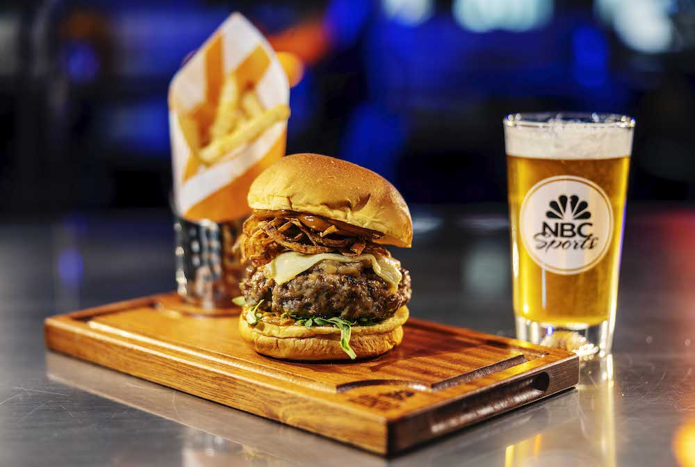 Guyere Burger at NBC Sports Grill & Brew at Universal CityWalk in Hollywood