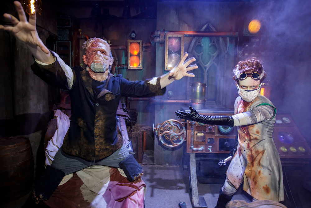 Universal Monsters: The Bride of Frankenstein Lives maze at Halloween Horror Nights 2021 at Universal Studios Hollywood