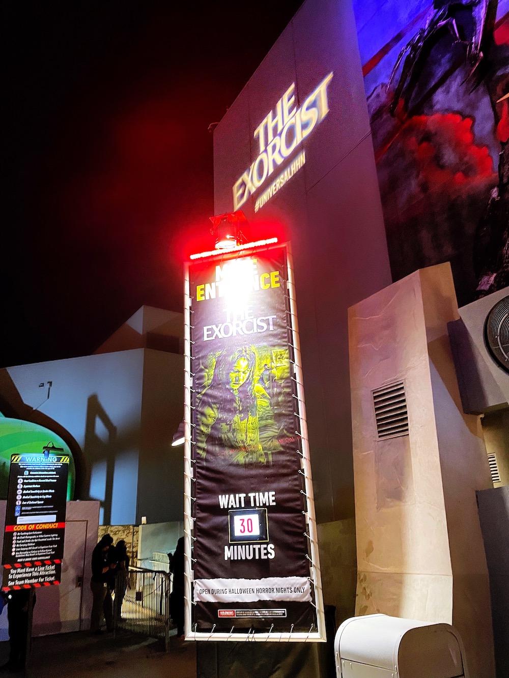 Exorcist Maze Halloween Horror Nights 2021 at Universal Studios Hollywood